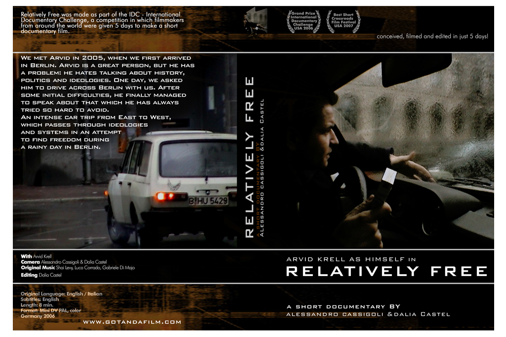 RELATIVELY FREE ° Film DVD Covergestaltung